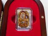 Иерусалимская Икона Божией матери - серебро, позолота, кристаллы Сваровски, фото №2
