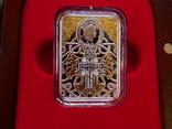 Иерусалимская Икона Божией матери - серебро, позолота, кристаллы Сваровски, фото №3