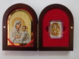 Иерусалимская Икона Божией матери - серебро, позолота, кристаллы Сваровски, фото №4