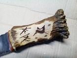 Ніж кремяний з ручкою з рогу., фото №4