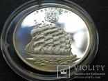 Того 2001 Корабль парусник серебро, фото №2