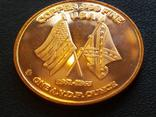Первая подводная лодка H. L. Hunley Корабль Парусник США Монетовидный жетон Медь 999, фото №3