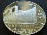 Вииндам II 1923 Корабль монетовидный жетон 125 лет Holland America Line 1998, фото №2