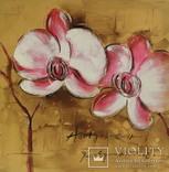 Орхидеи. 60Х60см., фото №2