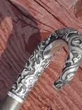 Красивая, солидная трость, рукоять серебро, Китай, L = 90 cm, фото №8