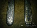Вилки 5 шт и 1 нож старые, фото №7