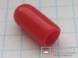 Колпачок на тумблер силикон красный 35 шт, фото №2
