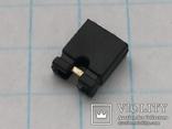Разъем сигнальный 2,54 2 pin джампер h6 позолота 40 шт, фото №3