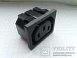 Штекер сетевой 15A 250V 3 pin розетка монтажный 75 шт, фото №3