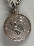 925 серебро Цепочка с кулоном в виде Скорпиона, фото №3