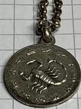 925 серебро Цепочка с кулоном в виде Скорпиона, фото №7
