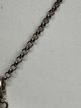 925 серебряная цепочка с кулоном в виде сердечка, фото №4