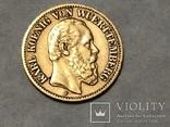 10 марок Карл Вюртембург Германия 1874, фото №2