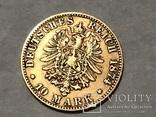 10 марок Карл Вюртембург Германия 1874, фото №3