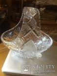 Хрустальная ваза .богемский хрусталь, фото №4