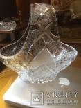 Хрустальная ваза .богемский хрусталь, фото №2