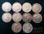 Комплект 1 крони по роках. Австрійський і угорський типи. 30 монет без повторів, фото №10