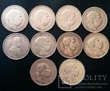 Комплект 1 крони по роках. Австрійський і угорський типи. 30 монет без повторів, фото №11