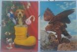 Зверушки, Рождество, Поздравительные-объёмная / стерео открытка, 5 шт.,чистые,Imco,Toppan, фото №4