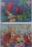 Зверушки, Рождество, Поздравительные-объёмная / стерео открытка, 5 шт.,чистые,Imco,Toppan, фото №5