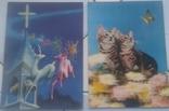 Зверушки, Рождество, Поздравительные-объёмная / стерео открытка, 5 шт.,чистые,Imco,Toppan, фото №6