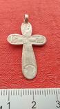 Крестик серебро 84, фото №2