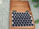 Мюнц-бокс.Червоне дерево.Ложементи d16/18/20mm.Для патинування/зберігання монет., фото №9