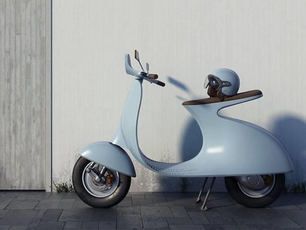 Vespa motor scooter: