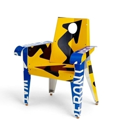 Stylish and modern furniture from traffic signs