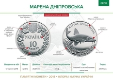 НБУ ввел в оборот две монеты, посвященные марене днепровской