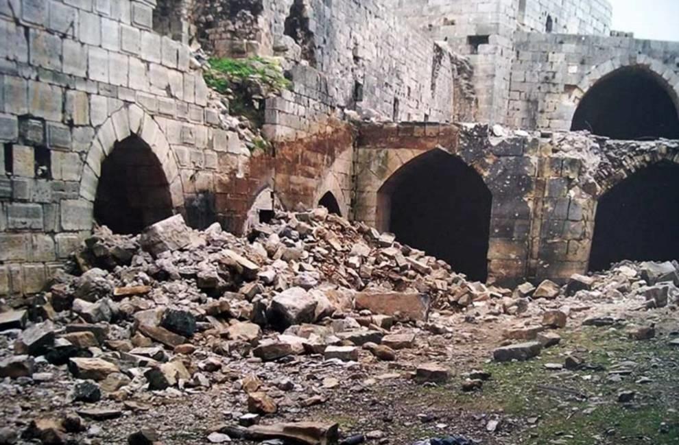Что было найдено в крепости крестоносцев города Хомс?