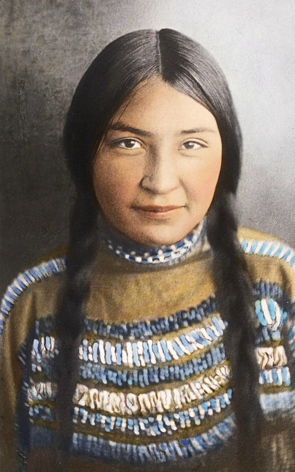 Фотографии индейцев конца XIX века в цвете