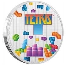В Новой Зеландии презентовали монету, посвещенную известной игре «Тетрис»