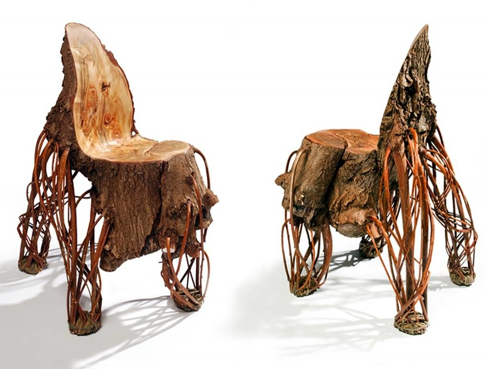 Chairs, chairs and benches created in the image of nature