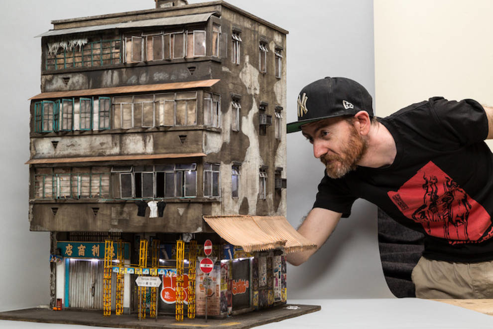 Cardboard and wood: miniature slums by an Australian sculptor