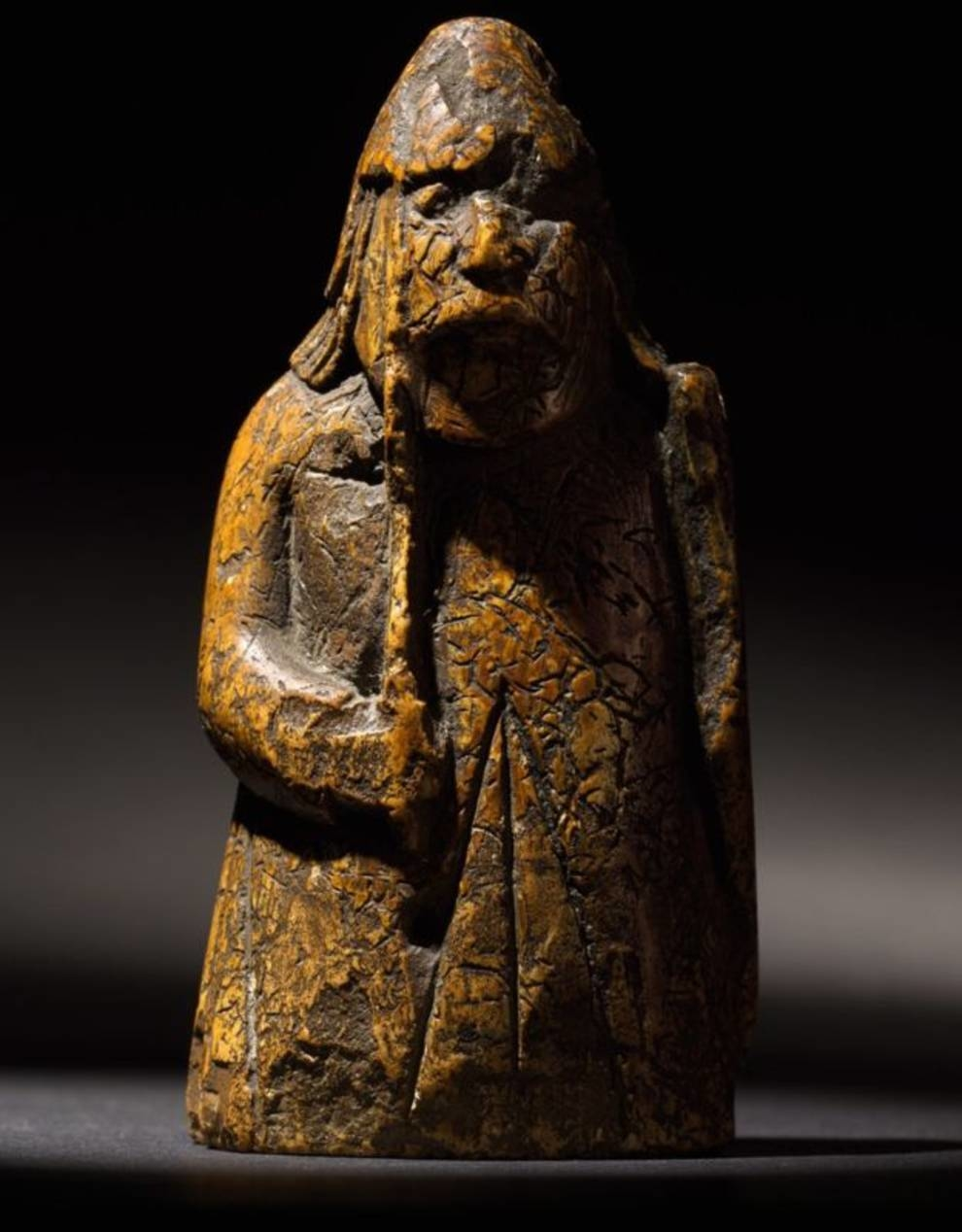 A chess piece from Lewis Island, which