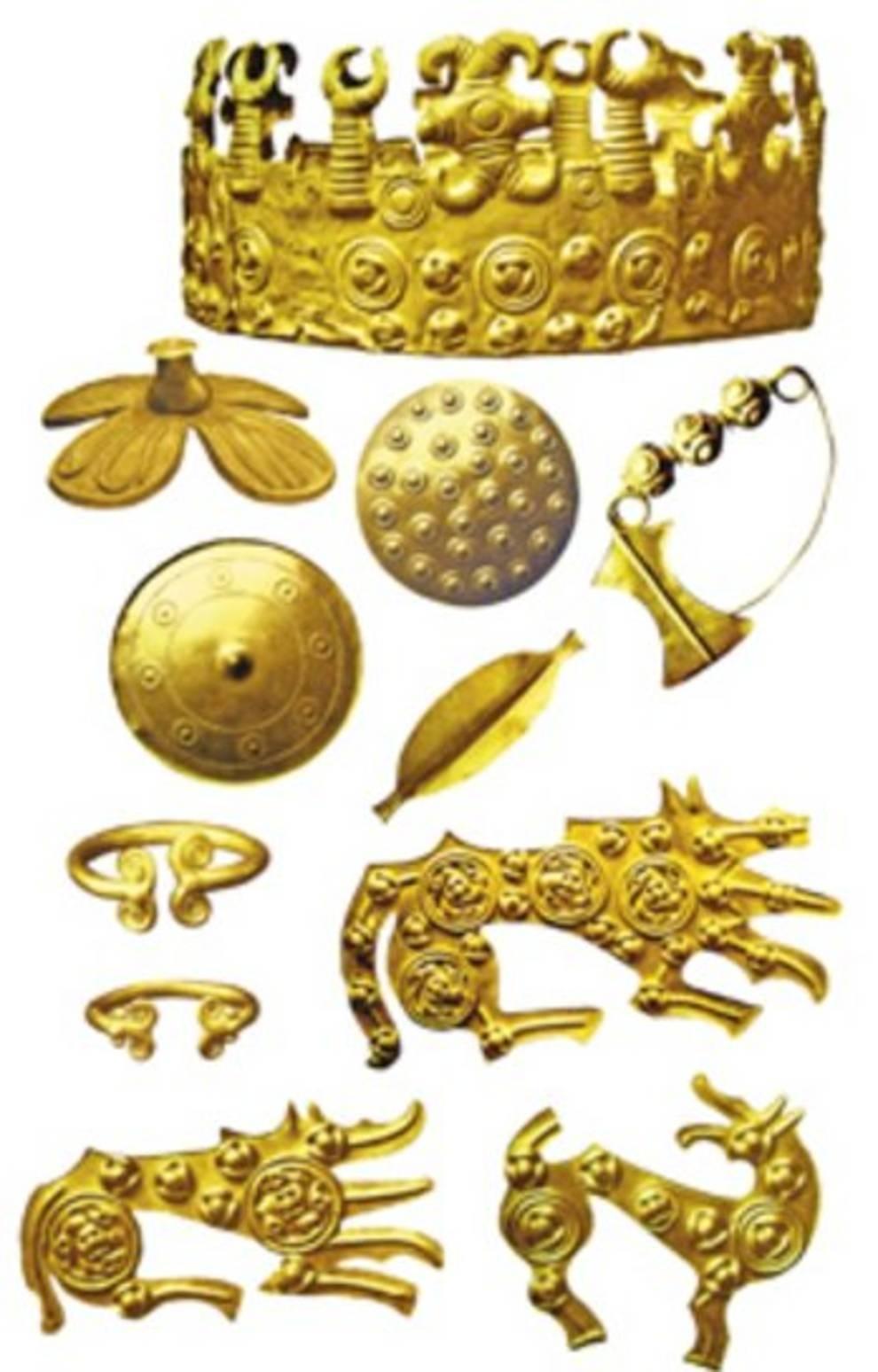 Древний клад золотых украшений, обнаруженный в Тернопольской области