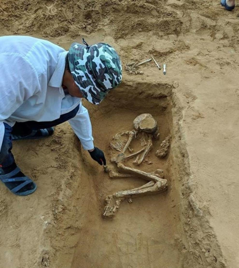 Astrakhan archaeologists unearthed the remains of a 4000-year-old boy