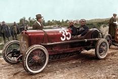 Фотографии автомобилей и мотоциклов начала XX века в цвете