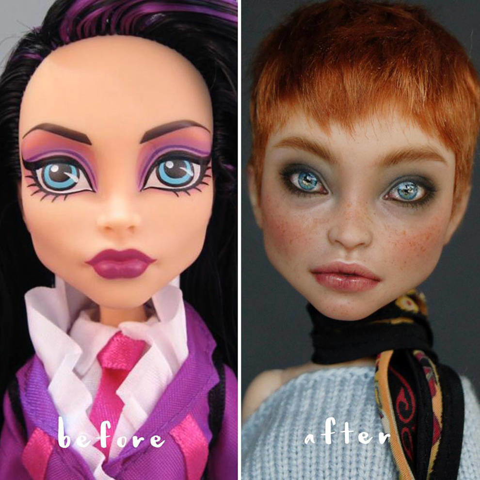 Ukrainian artist and her realistic dolls