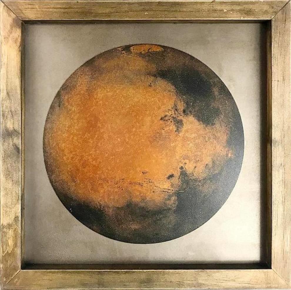 «Ржавый» портрет Марса дизайнера Барри Абрамса