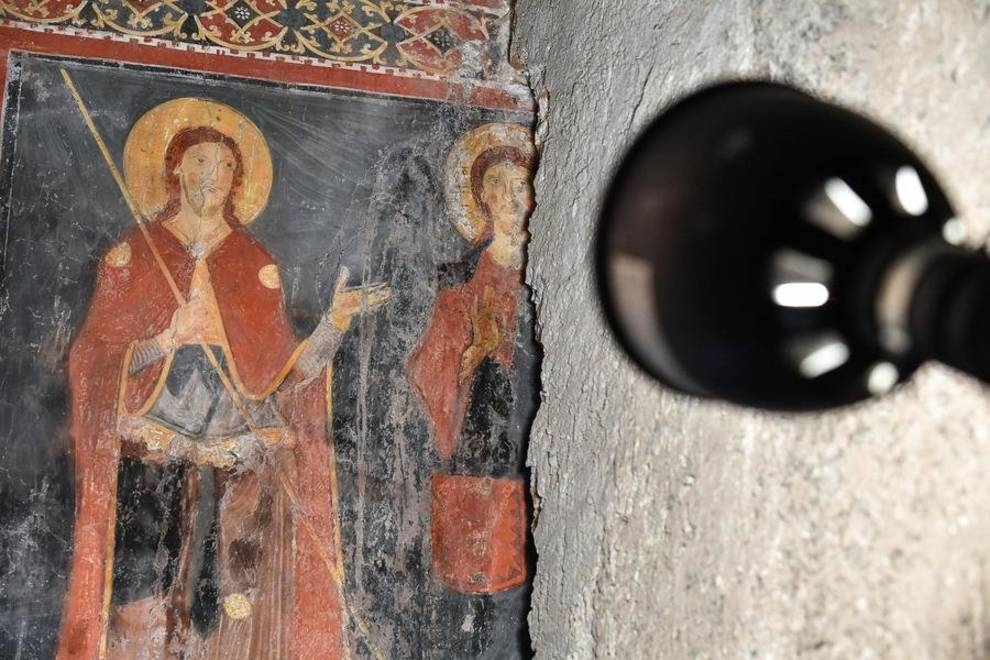 В Риме нашли замурованную древнюю фреску