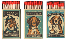 From the Boston Terrier to the Pug: a playful collection of matchboxes with doggies