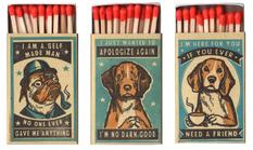 От бостон-терьера до мопса: шутливая коллекция спичечных коробок с собачками
