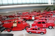 Personal fleet of firefighters of a passionate fireman