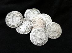 Кошелек серебряных шестаков Сигизмунда III Вазы