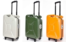 Roomy suitcase from a gas can