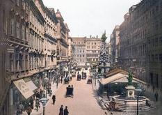 Улица с самыми дорогими ресторанами и толпами гуляющей публики — Грабен на снимках XIX века