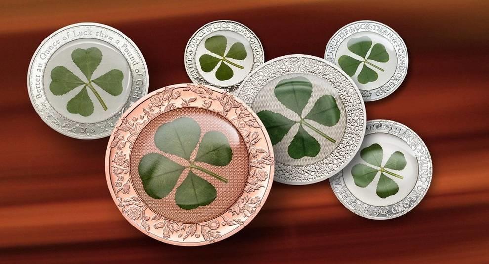 Палау выпускает новую монету с клевером