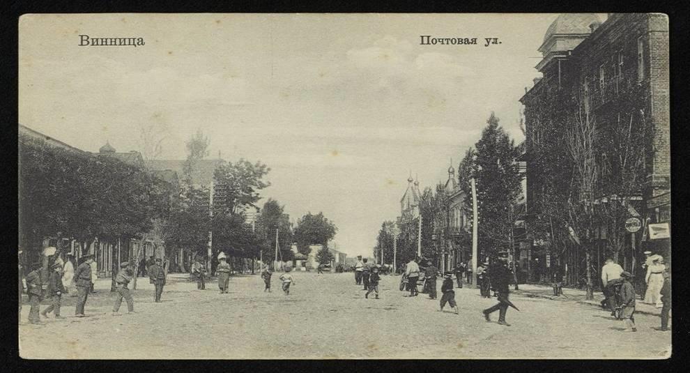 Старые черно-белые открытки с фотографиями Винницы